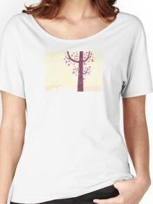 Tree of hearts. Some of trees aren't common trees Women's Relaxed Fit T-Shirt