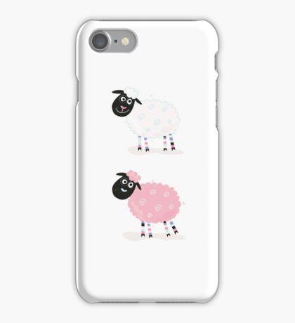 Cartoon sheep. Vector Illustration of funny sheep iPhone Case/Skin