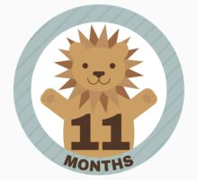 Baby Growth - Lion (11 Months) Kids Tee