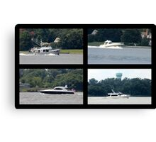 Boats in collage Canvas Print