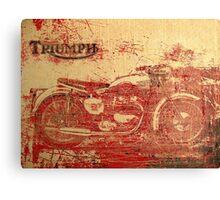 Triumph - Vintage Motorcycle Canvas Print