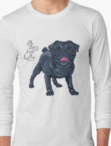 dog black pug breed Long Sleeve T-Shirt