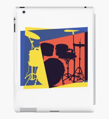 Drum Set Pop Art iPad Case/Skin
