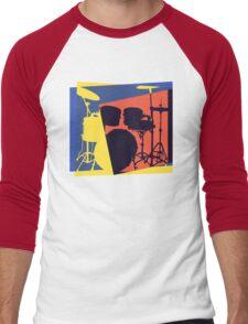 Drum Set Pop Art Men's Baseball ¾ T-Shirt