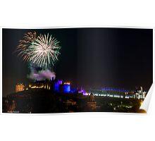 Edinburgh Military Tattoo Fireworks  Poster