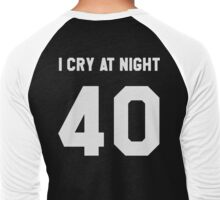 """I CRY AT NIGHT"" Men's Baseball ¾ T-Shirt"