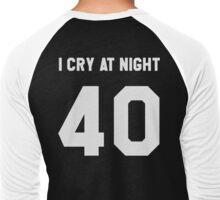"""""""I CRY AT NIGHT"""" Men's Baseball ¾ T-Shirt"""