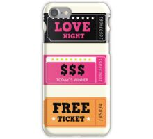 Love night tickets. Join crazy night party with collection of stylish retro tickets iPhone Case/Skin
