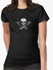 metal skull Womens Fitted T-Shirt