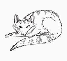 fox doodle by Maria Nikolaeva