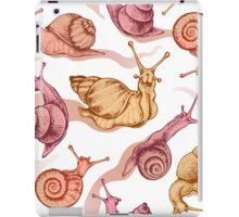 Pink snails iPad Case/Skin