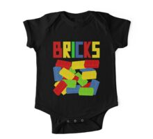 Colored Bricks [Large] by Customize My Minifig One Piece - Short Sleeve