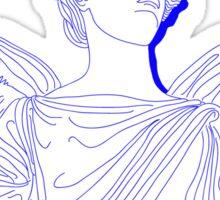 blue/white angel Sticker