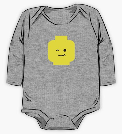 Minifig Winking Head  One Piece - Long Sleeve