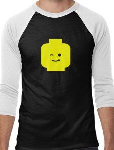 Minifig Winking Head  Men's Baseball ¾ T-Shirt