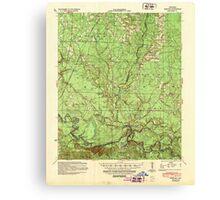 USGS TOPO Map Arkansas AR Moro Bay 260207 1939 62500 Canvas Print