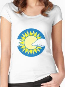 Sun and clouds Women's Fitted Scoop T-Shirt