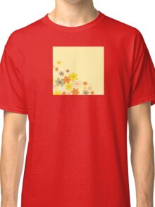 Retro flower background texture. Retro flower design Classic T-Shirt