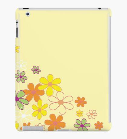 Retro flower background texture. Retro flower design iPad Case/Skin