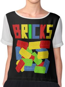 Colored Bricks [Large] by Customize My Minifig Chiffon Top