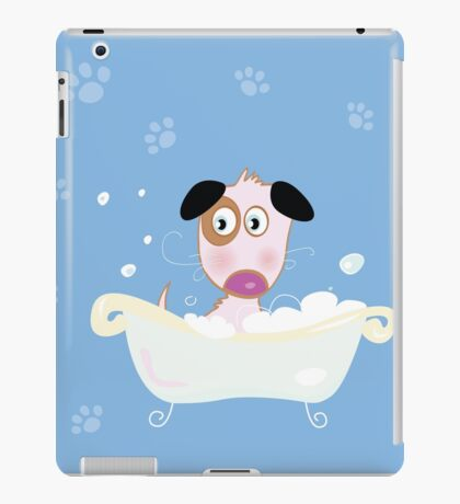 Cute dog bath. Bathing cute small doggie iPad Case/Skin