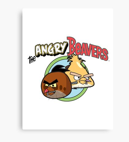 The Angry Beavbirds Canvas Print