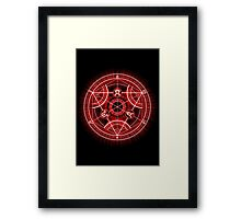 Human Transmutation Circle - Red Framed Print