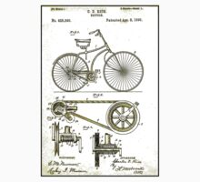 BICYCLE PATENT; Vintage Cycle Patent Print Baby Tee