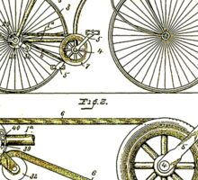 BICYCLE PATENT; Vintage Cycle Patent Print Sticker
