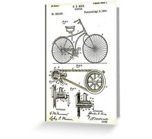 BICYCLE PATENT; Vintage Cycle Patent Print Greeting Card