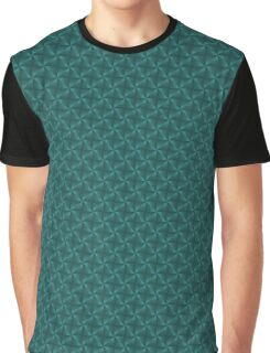 Pyramids and Windmills in Teal Graphic T-Shirt