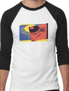Vintage Turntable Pop Art Men's Baseball ¾ T-Shirt