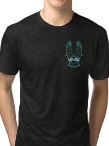 Halo 4 UNSC logo Tri-blend T-Shirt