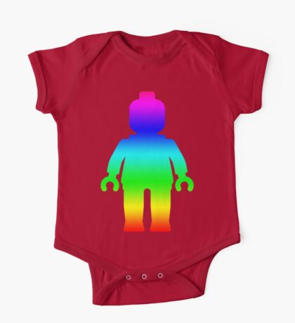 Minifig [Large Rainbow 1]  One Piece - Short Sleeve