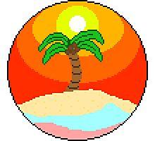 Pixel Sunset Photographic Print