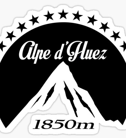 Alpe d'Huez (Black) Sticker