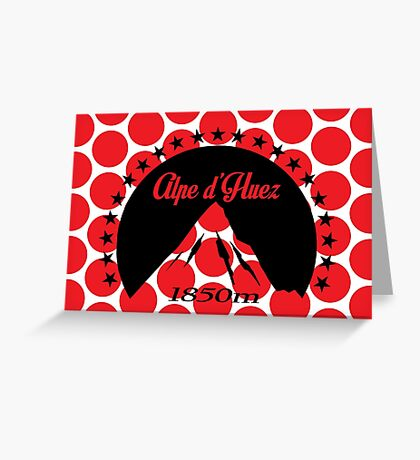 Alpe d'Huez (Black) Greeting Card
