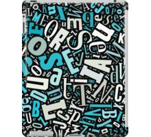 Letter frequency iPad Case/Skin