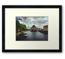 Berlin river Spree with Bode Museum and TV Tower Framed Print