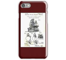 TRAIN LOCOMOTIVE; Vintage Patent Print iPhone Case/Skin
