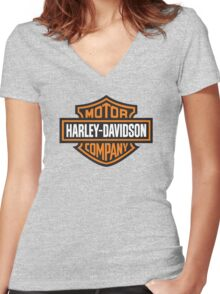 Harley Women's Fitted V-Neck T-Shirt