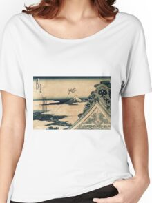 Hongan-ji Temple at Asakusa in the Eastern Capital - Hokusai Katsushika Women's Relaxed Fit T-Shirt