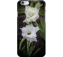 The White Gladiola iPhone Case/Skin