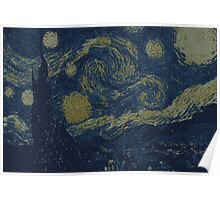 Vincent van Gogh The Starry Night e-edit Poster