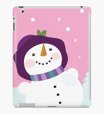 It's snowing - Winter snowman lady. Winter romance iPad Case/Skin