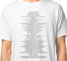 The entire script of The Dark Knight rises prologue Classic T-Shirt