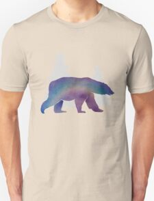 Technicolour safari - Snow bear Unisex T-Shirt