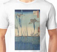 Horikiri iris garden - Hiroshige Ando - 1857 Unisex T-Shirt