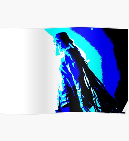 Damian Marley Blue Posterized Poster