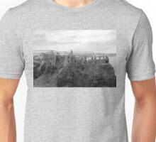 Black and White Irish Castle Ruins ~ Halloween Landscape Unisex T-Shirt